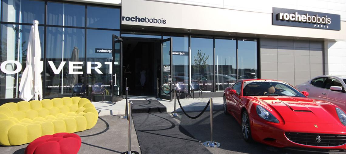 Inauguration of Roche Bobois, Quartier DIX30 new store