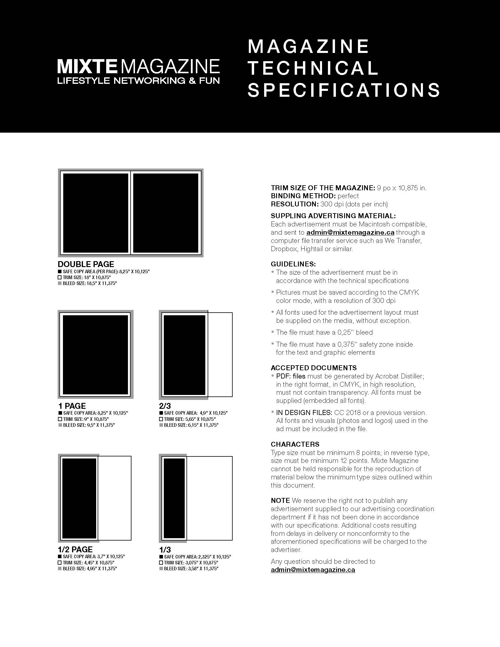 Magazine Technical Specifications
