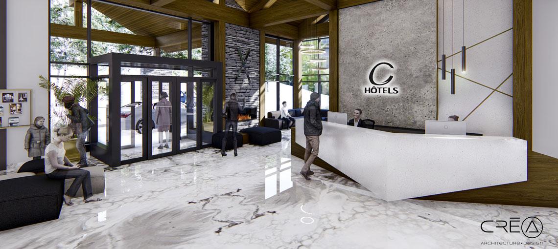 Premier Hotel érigé au Versant Soleil - C Hôtels Tremblant