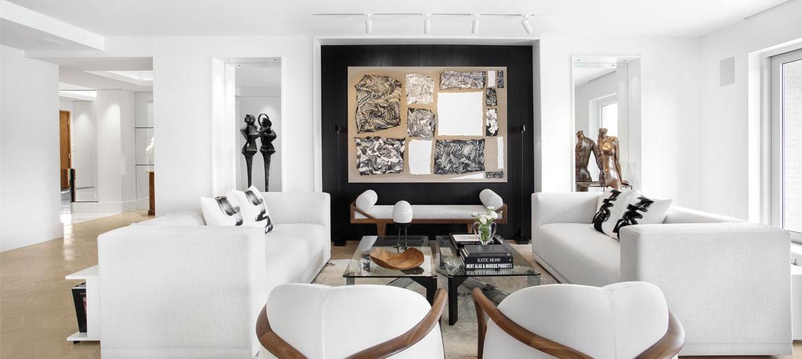 Un design intérieur en noir et blanc