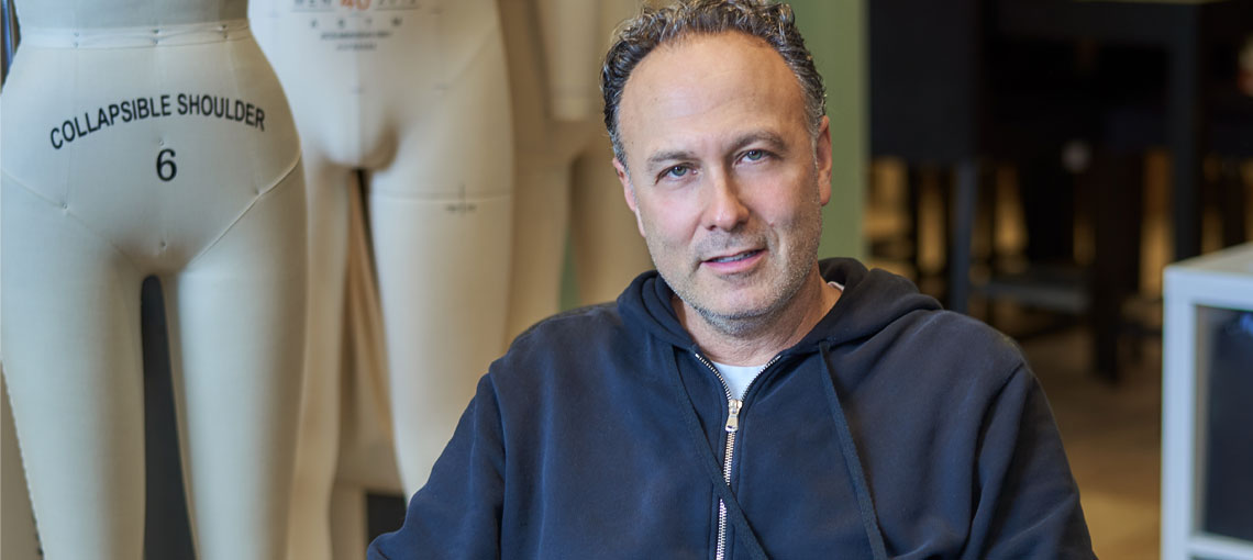 Brian Cytrynbaum,  Montreal designer of luxury clothing
